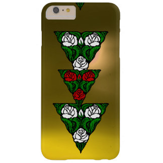 BEAUTIFUL ART NOUVEAU WHITE  RED ROSES TRIANGLE BARELY THERE iPhone 6 PLUS CASE