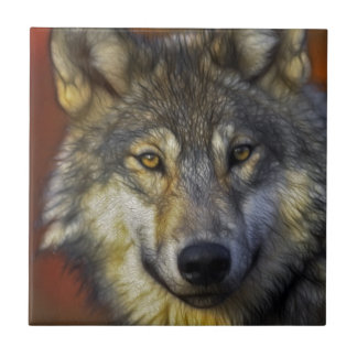 Beautiful artistic grey wolf portrait tiles