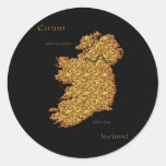 Beautiful Artistic Map Educational Gift Round Stickers