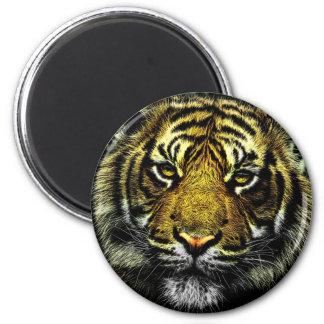Beautiful artistic tiger portrait magnet