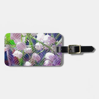 Beautiful Artistically Altered Lily of the Valley Bag Tag
