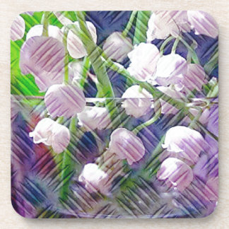 Beautiful Artistically Altered Lily of the Valley Beverage Coaster