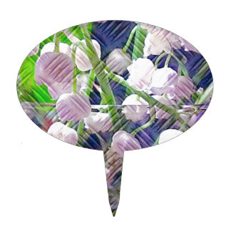 Beautiful Artistically Altered Lily of the Valley Cake Topper