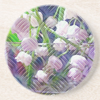 Beautiful Artistically Altered Lily of the Valley Coaster