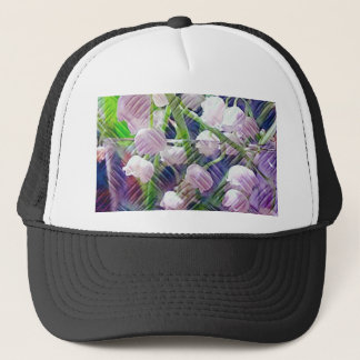 Beautiful Artistically Altered Lily of the Valley Trucker Hat