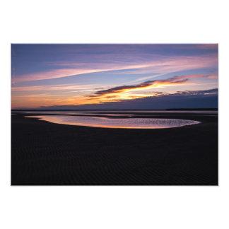 Beautiful Atlantic Ocean Sunset Tide Out Photo