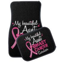 Beautiful Aunt Breast Cancer Survivor Niece Nephew Car Floor Mat