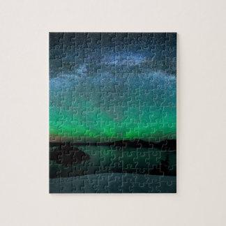Beautiful Aurora Borealis / northern lights Puzzle