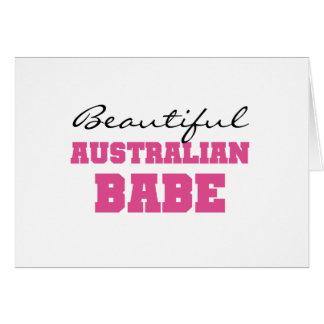 Beautiful Australian Babe Greeting Cards