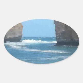 Beautiful Australian Scenery you can take anywhere Oval Sticker