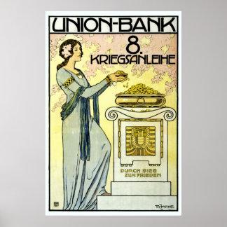 Beautiful Austrian Jugendstil Art Nouveau Poster