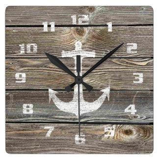 Beautiful authentic looking Wood Rustic Nautical Wall Clocks