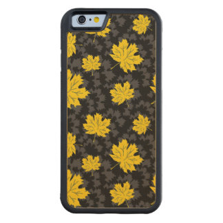 Beautiful autumn background carved maple iPhone 6 bumper case