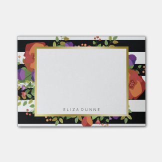 Beautiful Autumn Bouquet Custom Name Post-it® Notes