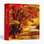 "Beautiful Autumn Day 1"" Photo Album Vinyl Binders"
