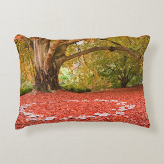 Beautiful Autumn Fall Nature Fairy Ring Accent Pillow
