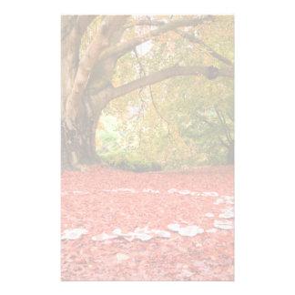 Beautiful Autumn Fall Nature Fairy Ring Stationery Design