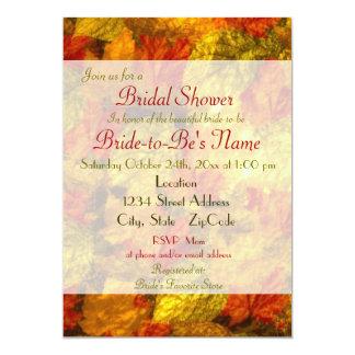 Beautiful Autumn Leaves Bridal Shower Invitations