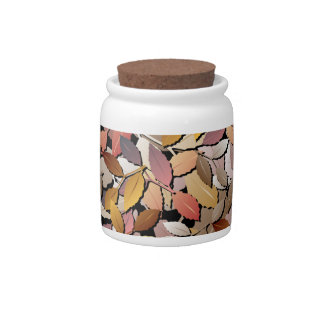 Beautiful Autumn Leaves Candy Jar