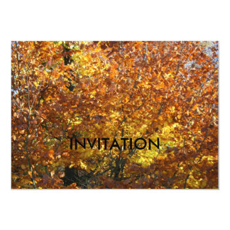 Beautiful Autumn Leaves  INVITATION