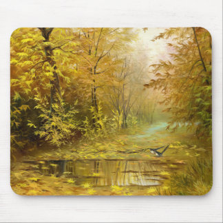 Beautiful Autumn Painting Mouse Pad