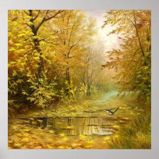 Beautiful Autumn Painting Poster
