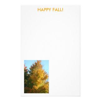Beautiful Autumn Tree, HAPPY FALL! Stationery