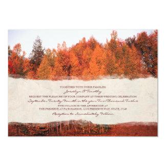 Beautiful Autumn Trees Wedding Invitation