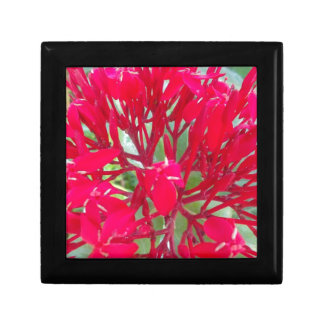Beautiful Awesome Red flowers Small Tile Gift Box