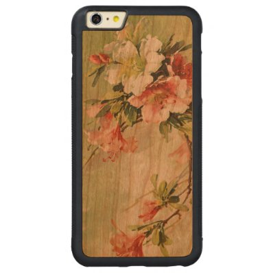 Beautiful Azaleas, Catherina Klein Carved® Cherry iPhone 6 Plus Bumper Case