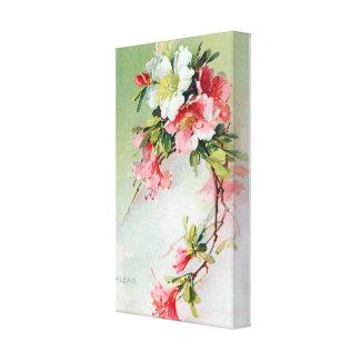 Beautiful Azaleas Vintage Art Canvas Print