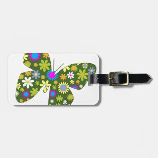 Beautiful Aziza Butterfly Wing Whimsy Blossoms Tags For Luggage