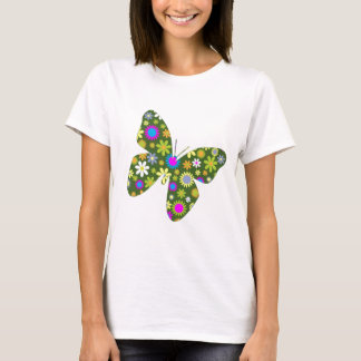 Beautiful Aziza Butterfly Wing Whimsy Blossoms T-Shirt