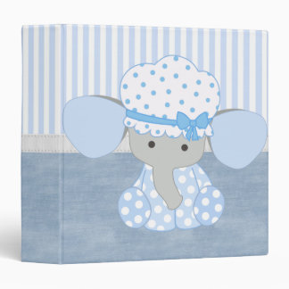 Beautiful Baby Blue Elephant 3 Ring Binder