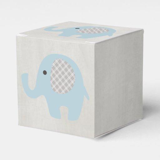 Favour Boxes Baby Blue : Beautiful baby blue elephant favor box zazzle