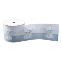 Beautiful Baby Blue Elephant Grosgrain Ribbon