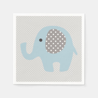 Beautiful Baby Blue Elephant Standard Cocktail Napkin