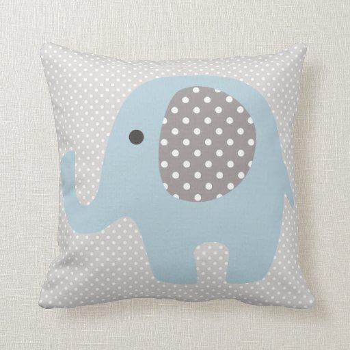Beautiful Baby Blue Elephant Throw Pillow Zazzle