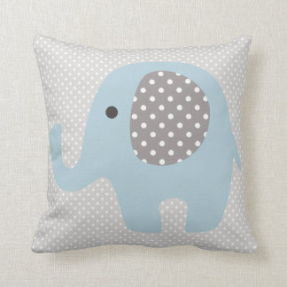 Beautiful Baby Blue Elephant Throw Pillow