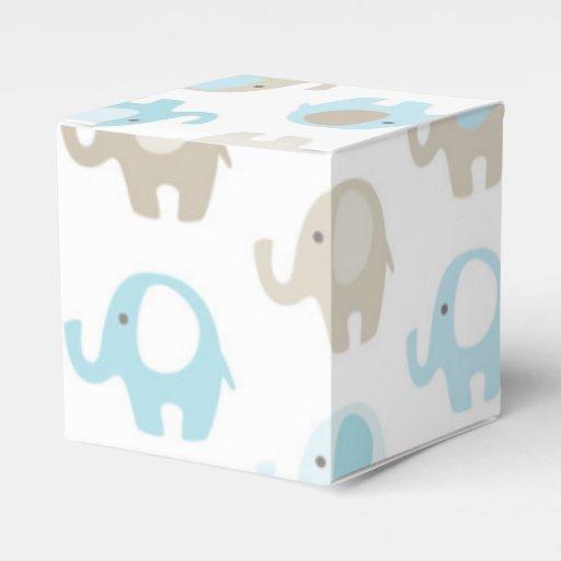 Favour Boxes Baby Blue : Beautiful baby blue elephants favor box zazzle