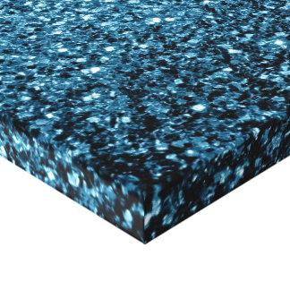 Beautiful Baby blue glitter sparkles Canvas Print