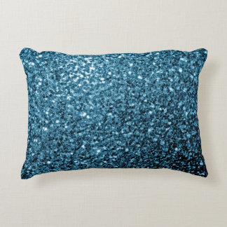Beautiful Baby blue glitter sparkles Decorative Pillow