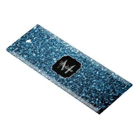 Beautiful Baby blue glitter sparkles Monogram