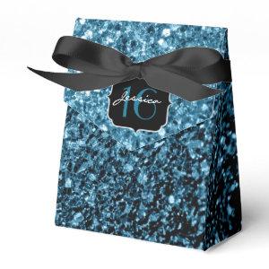 Beautiful Baby Blue sparkles  favor box