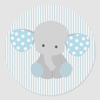 Mom and baby elephant stickers zazzle - Stickers elephant chambre bebe ...