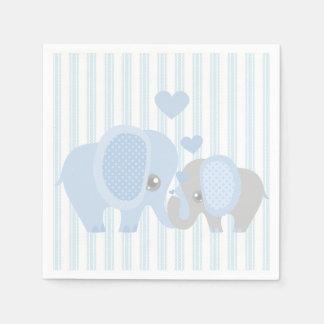 Beautiful Baby Boy Blue Elephant Paper Napkin