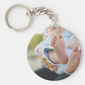 Beautiful Baby Boy Congratulations & Celebrations Basic Round Button Keychain