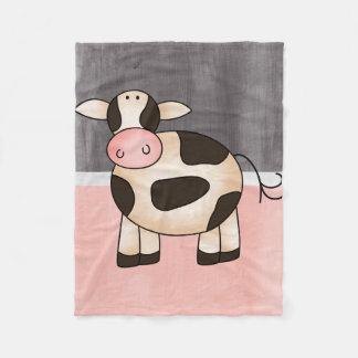 Beautiful Baby Cow Zoo Animal Fleece Blanket