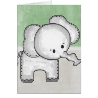 Beautiful Baby Elephant Zoo Animal Card