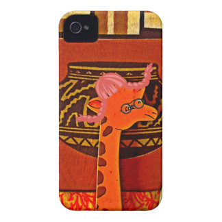 Beautiful baby funny giraffe iPhone 4 case